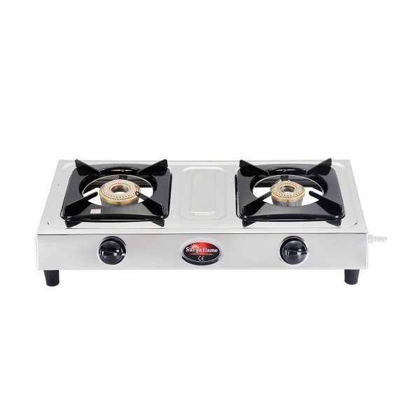 2 Burner Eco Basic BR SS Body  (Brass Burners)